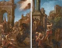 caduta di san paolo (+ decollazione di san paolo; 2 works) by giuseppe varotti