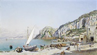 beach at capri by federico del campo