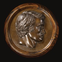 portrait roundel of thomas carlyle by thomas woolner