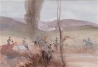scène de chasse by antoine de la boulaye