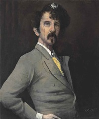 portrait of james mcneill whistler by walter greaves