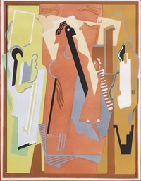 composition a trois elements by albert gleizes