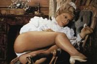 femme en tenue legere by jean-claude adenin