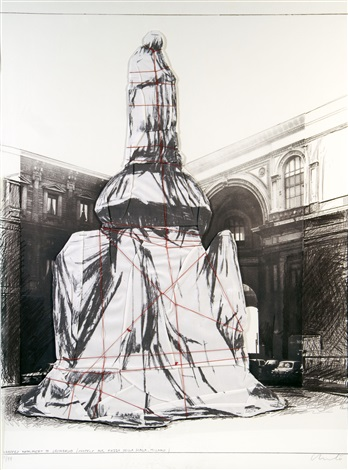 wrapped monument to leonardo by christo and jeanne claude