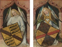 angels with coats of arms (pair) by french school-northern (15)
