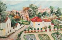 vue de village en provence (?) by elisée maclet