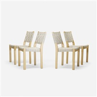 chairs (set of 4) by alvar aalto