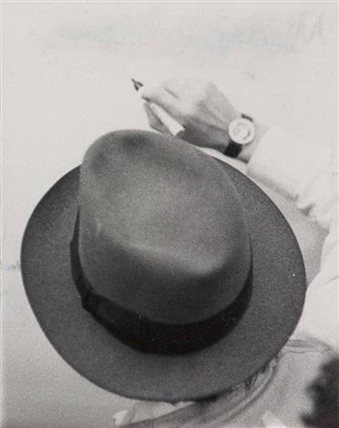 bonn kunstverein 8.11.1977 (selbstbildnis mit hut) by joseph beuys
