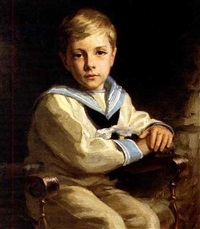 boy in a sailor suit by john wycliffe lewis forster