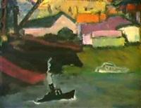 sur la riviere, 1957 by alexandre komarov