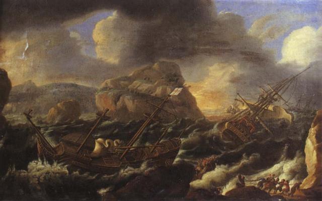 navires près de la côte rocheuse by abeille