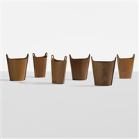 wastepaper baskets (set of 6) by p.s. heggen