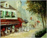terrasse ensoleillée à paris by valery krassouline