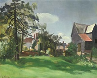 farm houses (+ helen bromley; 2 works) by john arthur malcolm aldridge