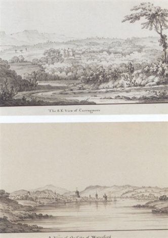 eight views of curraghmore house in 1768 waterford a view of the city of waterford by jonathan fisher