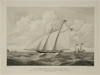 the america schooner (+ the samuel endberry; 2 works) by edward duncan
