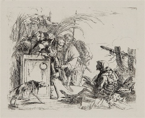 la mort donnant audience pl10 from verj cappricj by giovanni battista tiepolo