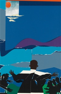 martin luther king, jr. - mountain top by romare bearden