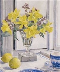daffodils by a window by rose brigid ganly