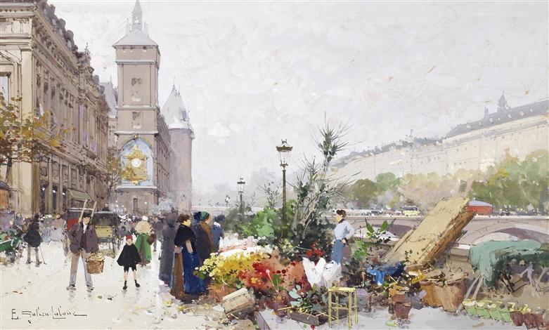 le marché aux fleurs by eugène galien laloue