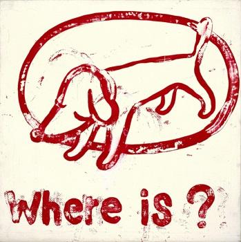 where is 在哪裡  by yoshitomo nara