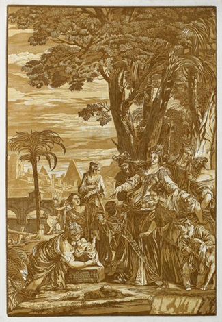 die findung moses after p veronese by john baptist jackson