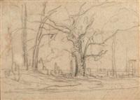étude d'arbres by théodore rousseau