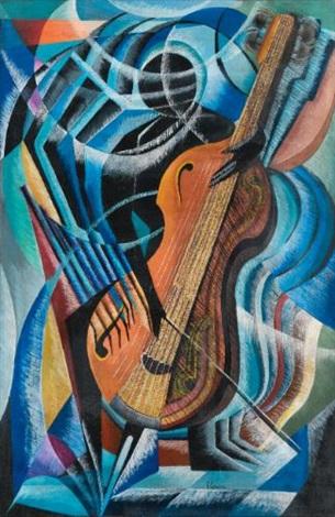 suonatore di contrabasso by vittorio corona