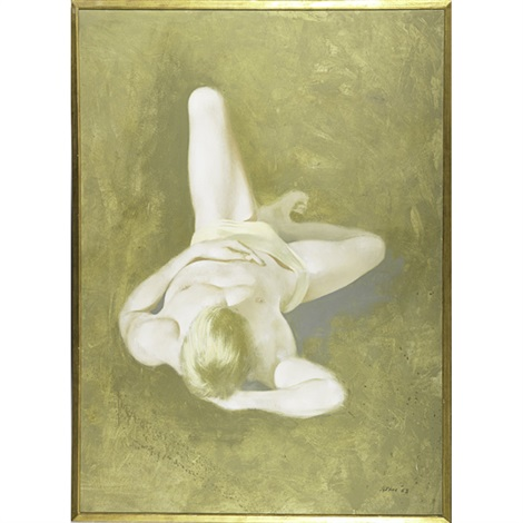 resting figure with left leg raised by robert r bliss