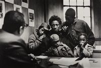 the welfare office, the fontanelle family, harlem, new york by gordon parks