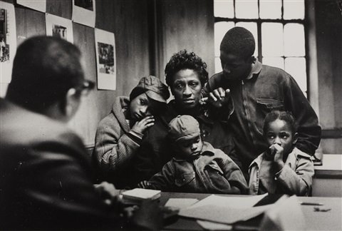 The Welfare office, The Fontanelle Family, Harlem, New York