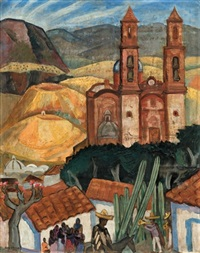 view of taxco by lucy brown l'engle