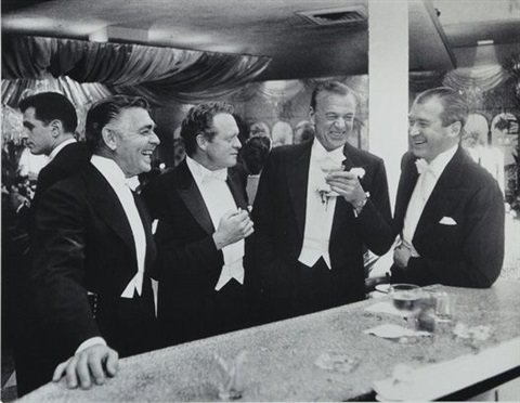kings of hollywood clark gable van heflin gary cooper james stewart enjoy a joke at a new york party at romanoffs los angeles by slim aarons