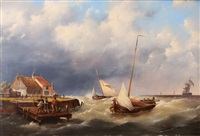 stormy passage by hermanus koekkoek the younger