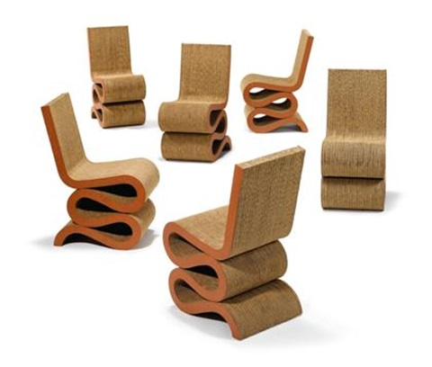 wiggle side chairs set of 6 by frank gehry