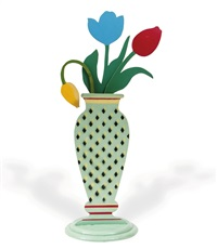 vase of tulips (in 4 parts) by mo mcdermott