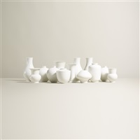 collection of thirteen vases (set of 13) by kpm - königliche porzellan-manufaktur (co.)