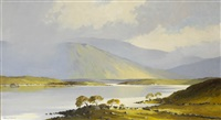 spring sunshine lough mask, county mayo by denis j. mcdowell