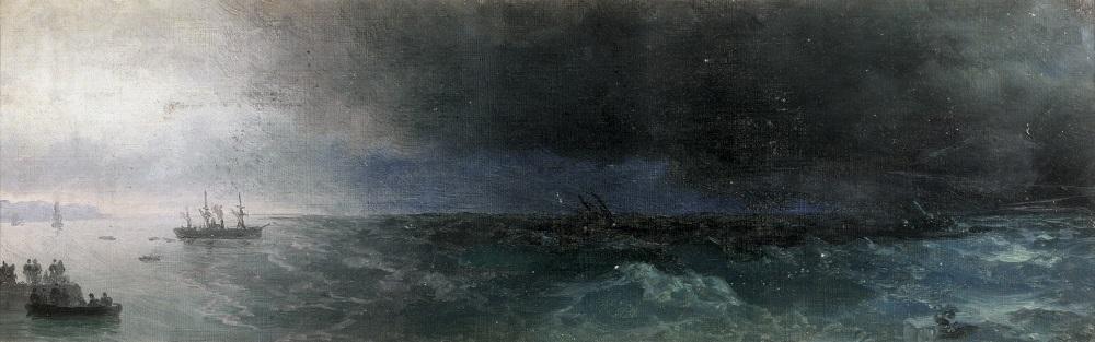 marine au clair de lune by ivan konstantinovich aivazovsky