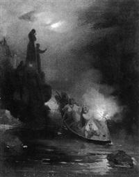 la pêche au flambeau by felix cottrau