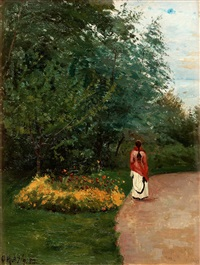 promenad i parken by olof krumlinde