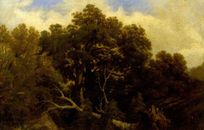 paysage à larbre déraciné by jean baptiste louis hubert