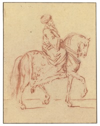 a turkish nobleman on horseback by charles parrocel