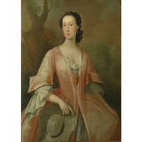 portrait of viscountess townshend by william hogarth