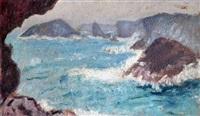 la roche percée, belle-ile en mer by jean puy