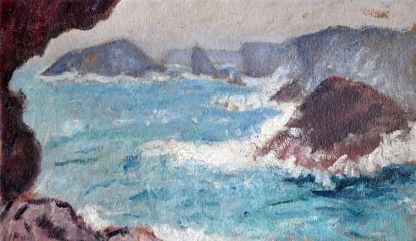 la roche percée belle ile en mer by jean puy