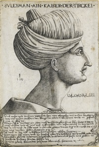 a portrait of sultan suleyman the magnigicent by hieronymus hopfer