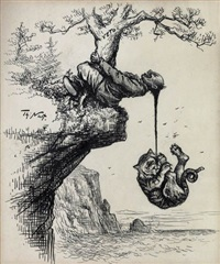 at last the democatic tiger has something to hang on by thomas nast