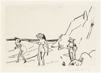 frauen am strand by erich heckel