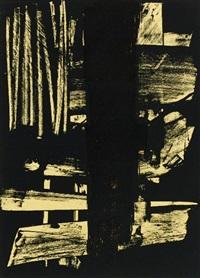 lithographie 9, planche extraite dans le numéro 13 de la revue xxe siècle by pierre soulages